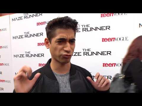 """The Maze Runner: Alex Flores """"Winston"""" Premiere Movie Interview"""