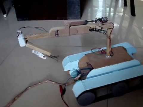 AUTOMATED GEAR MOTOR POWERED ROBOTIC ARM