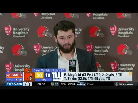 Bayker Mayfield On Cleveland Browns Defeat New York Giants | Good Morning Football Today