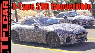 Is this the new Jaguar F-Type SVR Convertible Prototypes Spied in the Wild? by The Fast Lane Car