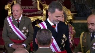 Imposición de condecoraciones por parte de S.M. el Rey durante la Pascua Militar de 2018