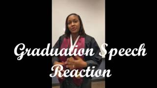 Dr. Jeff's university graduation speech reaction