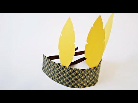 Bricolage déguisement. Fabriquer un bandeau d'indien