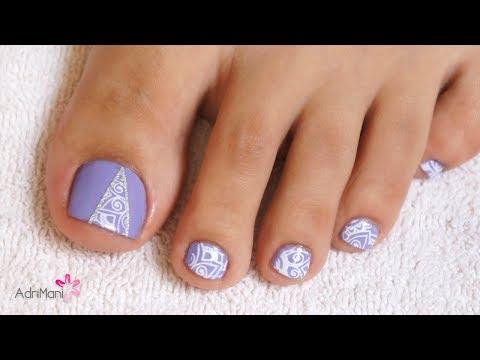 Diseños de uñas - Pedicure - Uñas con diseño estampado