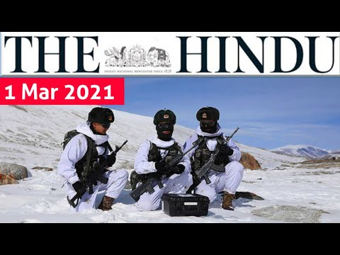 1 March 2021   The Hindu Newspaper Analysis   Current Affairs 2021 #UPSC #IAS Editorial Analysis