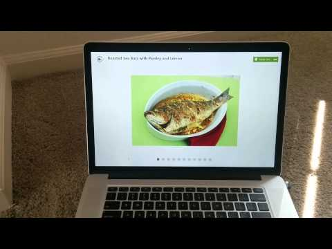 Food & Drinks App for Windows 8: Hands Free Feature