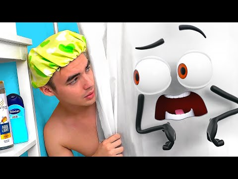 Crazy Singing Shower Curtain!