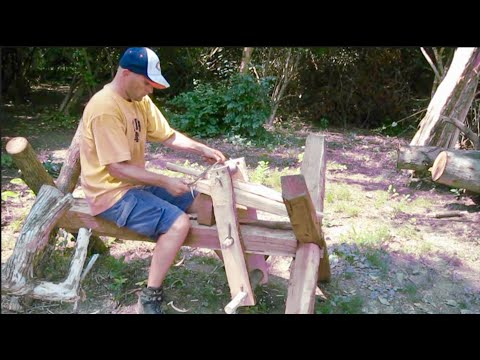 workbench tools - This video shows how to make an outdoor workbench using only traditional hand tools.