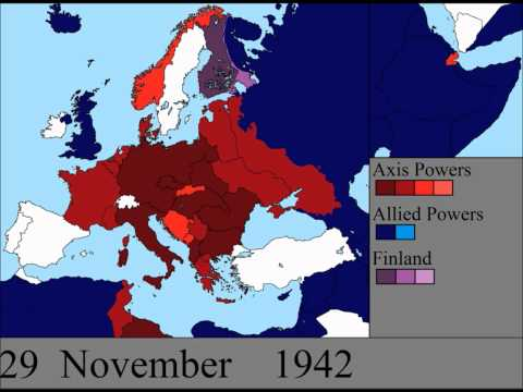 Time Lapse Video of World War II in Europe Day By