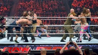 John Cena Enzo Amore Big Cass & The New Day Vs The Club & The Wyatt Family Raw July 18 2016