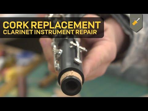 ¿Cómo cambiar el corcho espiga en el clarinete?
