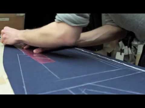 Cutting a bespoke suit part1/ Coupe d'un costume sur mesure 1ere partie