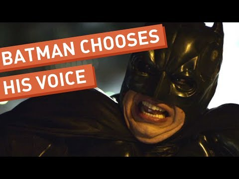 Batman Chooses His Voice (видео)