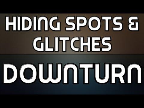 Hiding Spots + Glitches on Downturn (MW3)