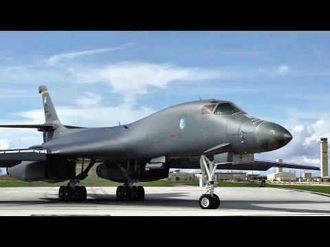 Two U.S. Air Force B-1B Lancers...