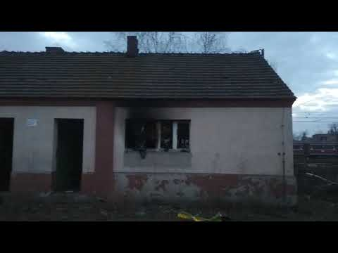 Wideo1: Pożar pustostanu na ul. Towarowej w Lesznie