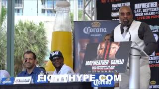 FLOYD MAYWEATHER VS. CANELO ALVAREZ MIAMI PRESS CONFERENCE