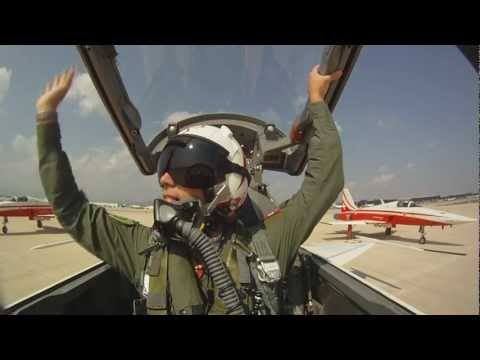 Onboard cam in the lead plane of...