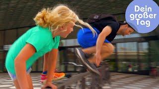 Sprung über jedes Hindernis - Charlotte läuft Parkour   Dein großer Tag   SWR Kindernetz