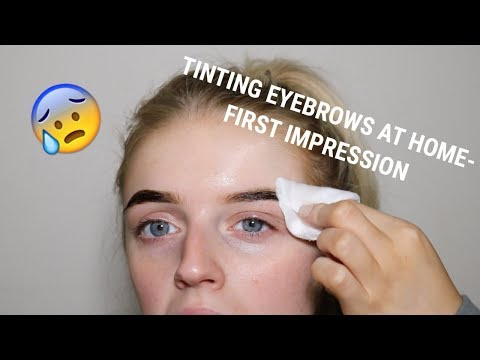 TINTING MY EYEBROWS FOR THE FIRST TIME | REFECTOCIL REVIEW