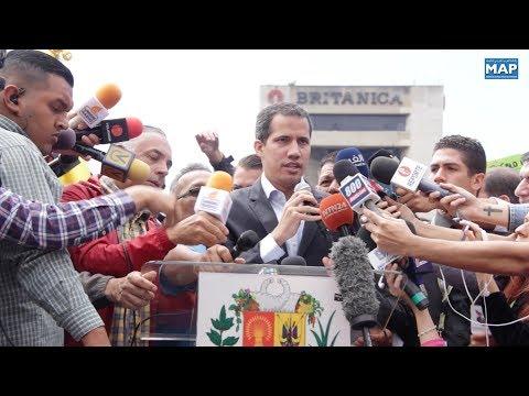 فنزويلا .. نقابات قطاع النقل تعرب عن دعمها لغوايدو وتتعهد بنقل المساعدات الإنسانية