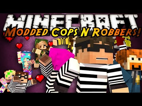 Minecraft Mini-Game : MODDED COPS N ROBBERS! GIRLFRIENDS!