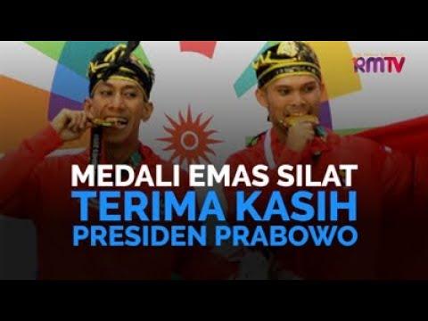 Medali Emas Silat Terima Kasih Presiden Prabowo