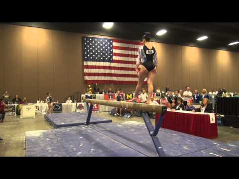 Payton Richards 2016 JO Nationals Beam