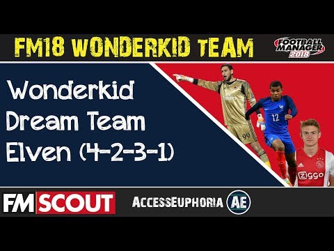 FM18 | Top Wonderkids Dream Team (4-2-3-1) | Wonderkid Best 11 | Football Manager 2018