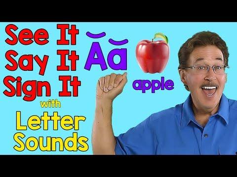 See It, Say It, Sign It | Letter Sounds | ASL Alphabet | Jack Hartmann