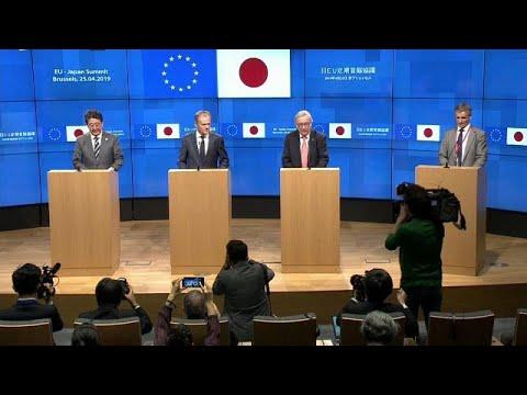 EU / Japan: Spitzen von EU und japanischer Regierung  ...