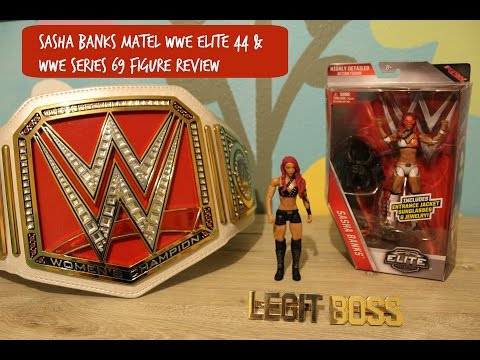 Sasha Banks Matel WWE Elite 44 & WWE Series 69 Figure Review