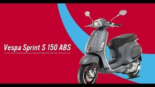 1. Extraordinary 2017 Vespa Sprint S 150 ABS