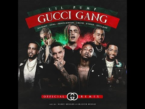 Gucci Gang Remix - Lil Pump x Bad Bunny x J Balvin x Ozuna (Audio Oficial)