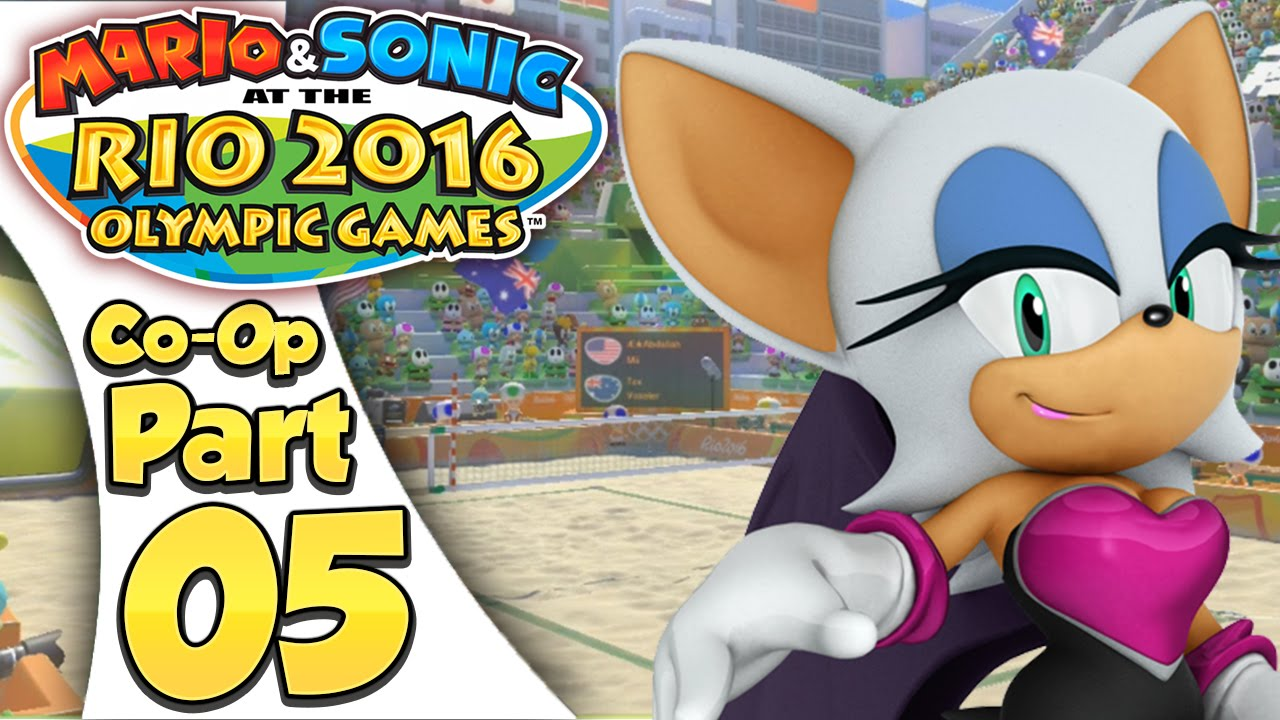 Mario & Sonic At The Rio 2016 Olympic Games – Co-Op Tournament Part 5 | Beach Volleyball!