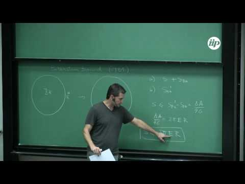 Lectures on Holography and Quantum Entanglement III - Horacio Casini