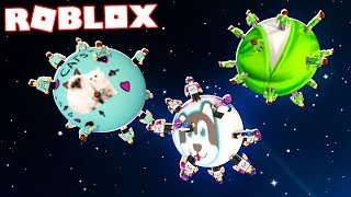 Roblox Adventures - DENIS, ALEX & SKETCH PLANETS IN ROBLOX! (Space Miners)