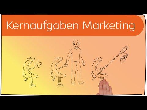 Kernaufgaben des Marketings in 3 Minuten erklärt