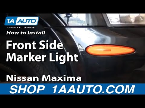 How To Replace Change Front Side Marker Light 00-03 Nissan Maxima