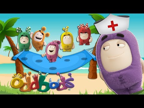Five Little Oddbods Jumping on the Hammock | 5 little Monkeys Jumping on the bed