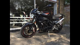 5. Triumph Speed Triple 15th Anniversary John Bloor  Special Edition 2009 Black Review & Start Up