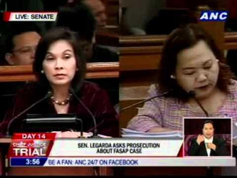 Sen. Legarda asks clarificatory questions to prosecution #CJonTrial