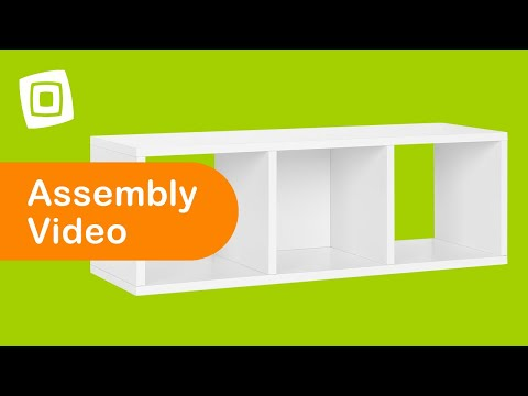 Video for Eco Friendly White Modular Storage Cozy Bench