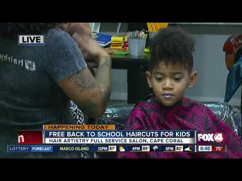 Hair salon - Salon in Cape Coral offers free back to school hair cuts