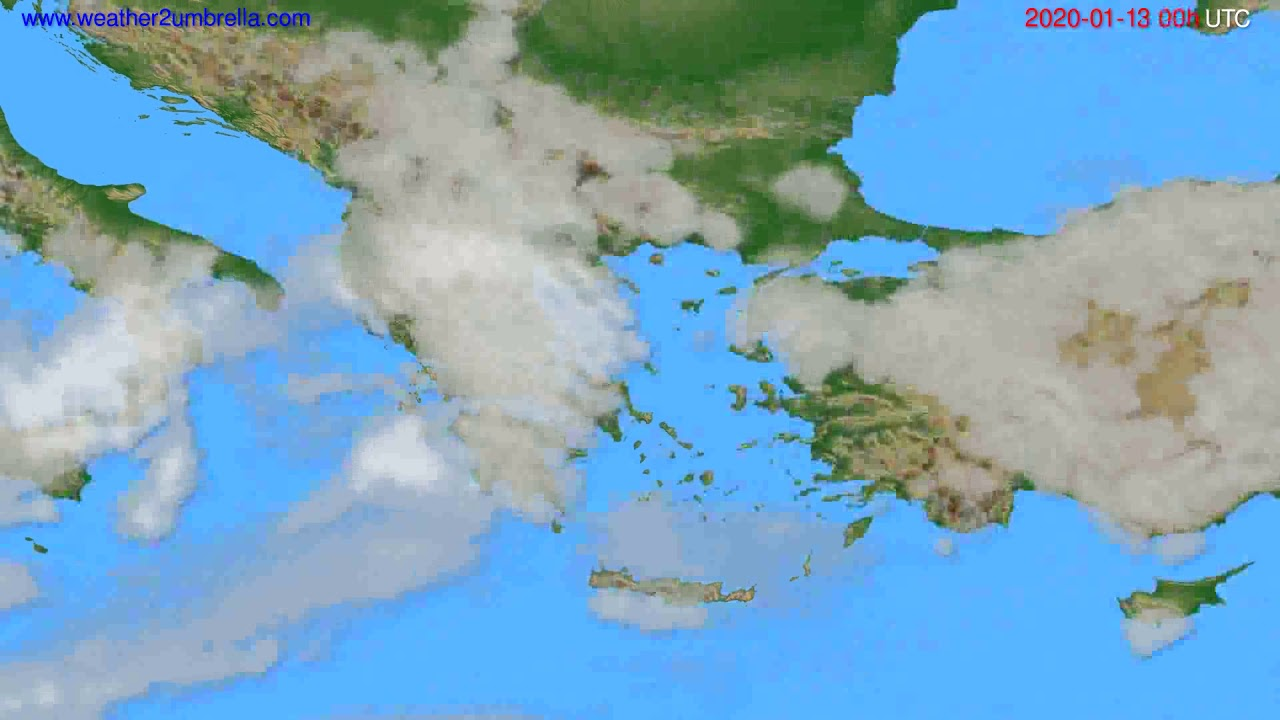 Cloud forecast Greece // modelrun: 00h UTC 2020-01-12
