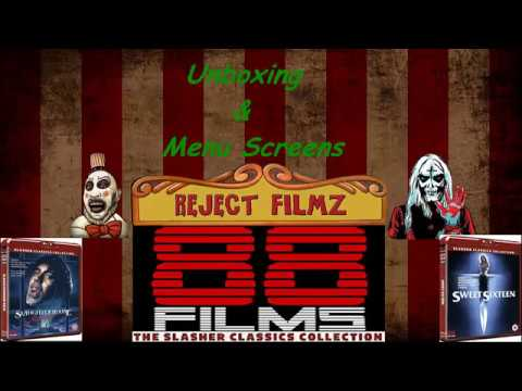88 Films Unboxing & Menu Screens - Slaughterhouse Rock & Sweet Sixteen