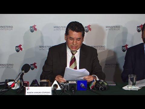 Conferencia de Prensa del Viceministro Rubén Vargas sobre la Escuadrón de muerte en la Policía Nacional Peruana