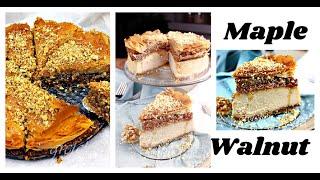 Vegan Maple Walnut Baklava Cheesecake    Gretchen's Vegan Bakery by Gretchen's Bakery