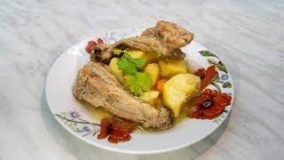 Ребрышки свиные с картофелем, тушеное мужское блюдо с овощами