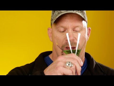 VIDEO:  Steve Austin tries girly drinks, ha!